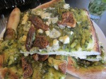 Pesto, Fig and Blue Cheese Pizza