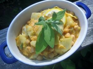 chickpea potato artichoke casserole5