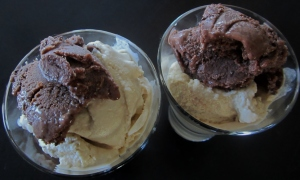 homemade dark choc gelato and kahlua ice cream