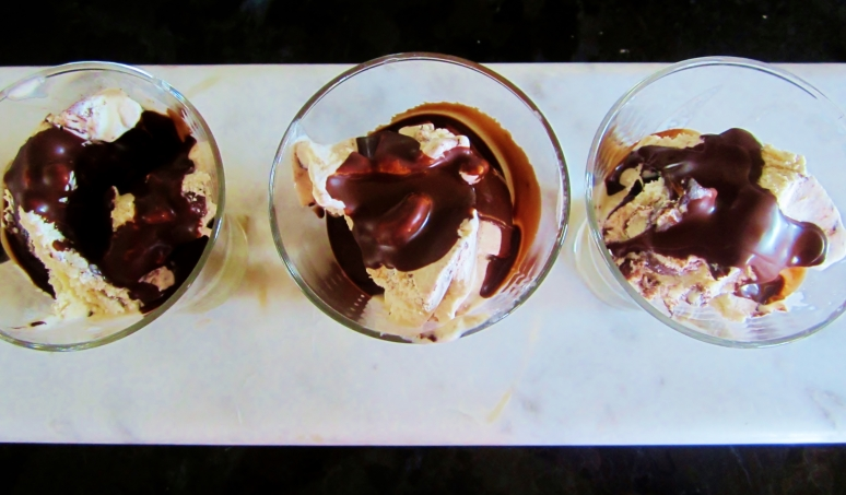 two ingredient chocolate crackle topping